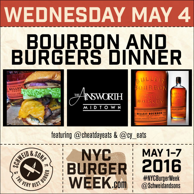 NYC Burger Week – Bourbon and Burgers Dinner at The Ainsworth