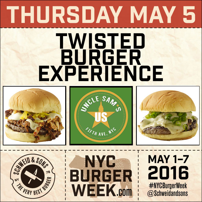 NYC Burger Week – The Twisted Burger Experience at Uncle Sam's Burgers