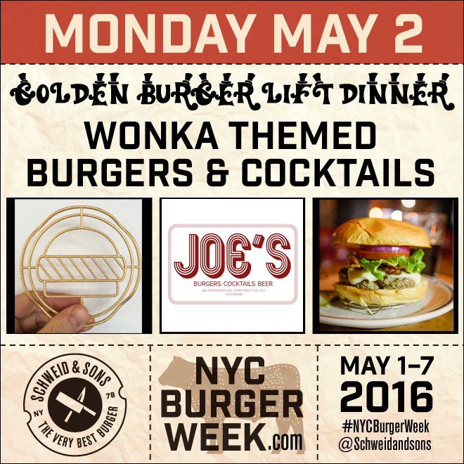 NYC Burger Week - Golden Burger Lift Dinner at Joe's bar NYC