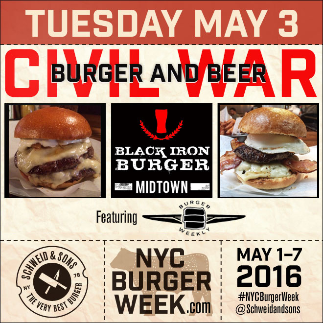 NYC Burger Week – Burger and Beer Civil War at Black Iron Burger