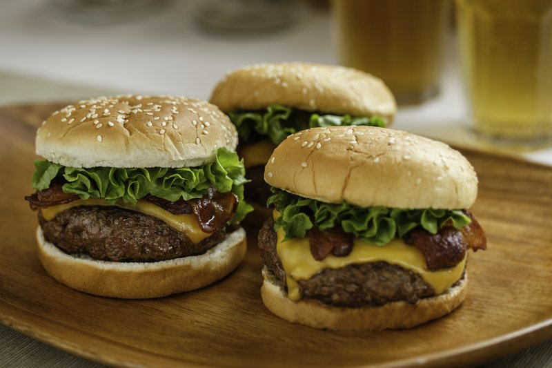 Three Burgers by George Motz800