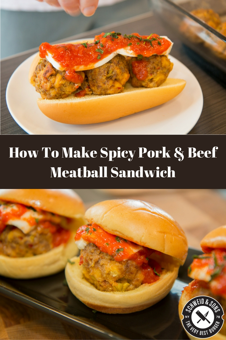 spicy-pork-beef-meatball-sandwich