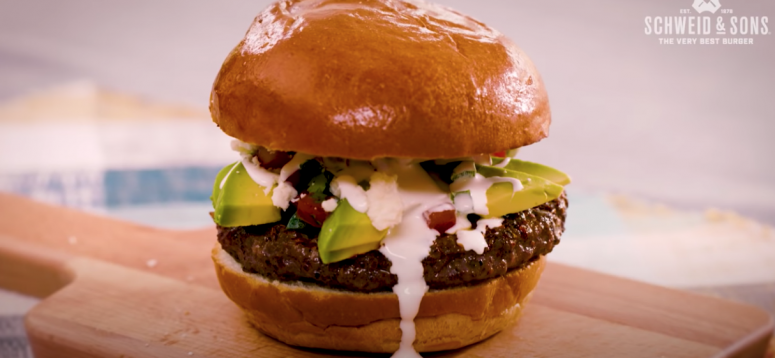 avocado queso burger
