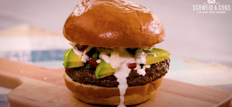 avocado queso burger
